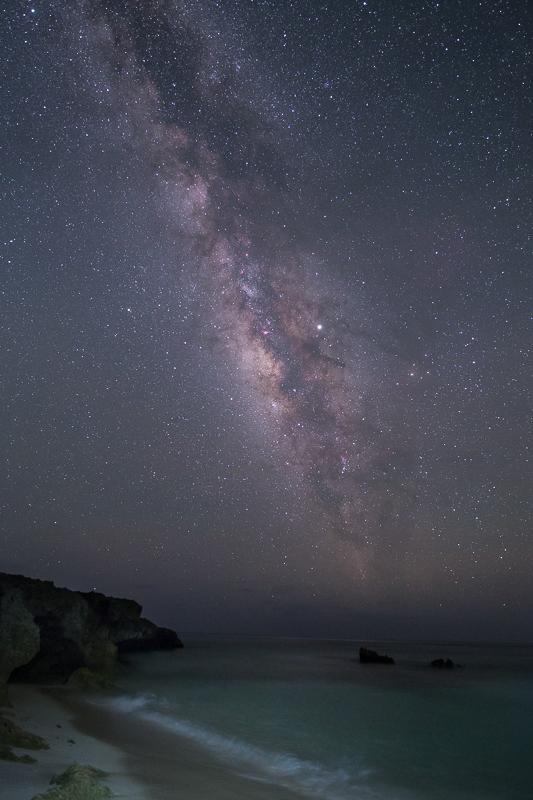宮古島ムスヌン浜の天の川B.jpg